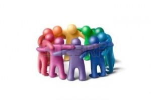 11452039-multicolore-figure-di-plastilina-umane-organizzate-in-un-cerchio